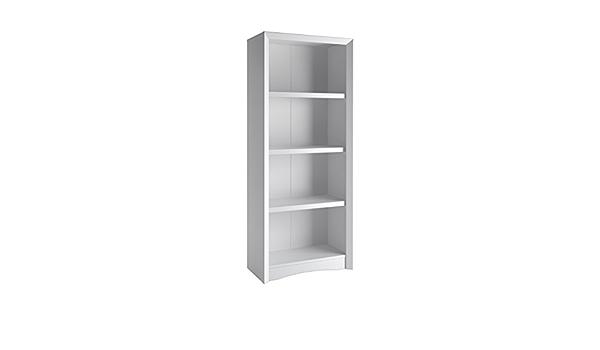 Corliving Quadra 4 Shelf Faux Wood Grain Bookcase In White Amazon Ca Home Kitchen