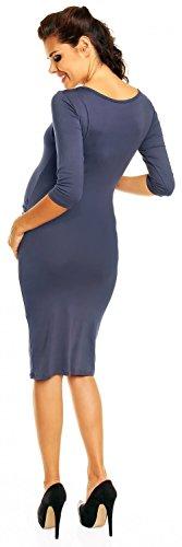 Zeta Ville Premamá - Vestido premamá corte entallado - para mujer - 939c Azul Gris