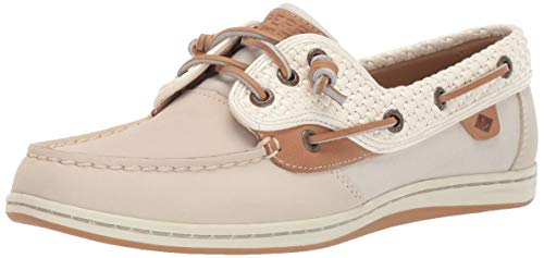(Sperry Top-Sider Women's Songfish Boat Shoe, Ivory, 9 M US)