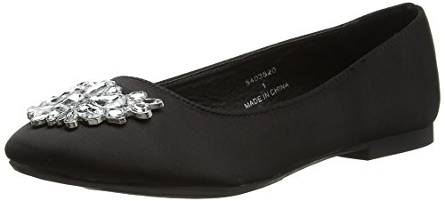 New Look Women's Jan Closed Toe Ballet Flats Black (Black) kLOpQZECm