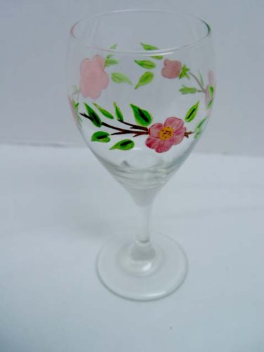Beautiful Franciscan Desert Rose 10 Oz Stemmed Wine Glass Goblet
