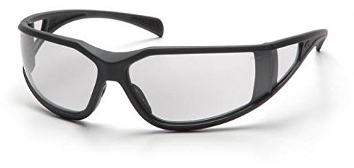 (12 Pair) Pyramex Exeter Glasses Charcoal Gray Frame/Clear Anti-Fog Lens (SCG5110DT) (Safety Pyramex Exeter Glasses)