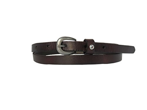 Womens leather belt skinny waist belts full grain vintage for jeans and dress