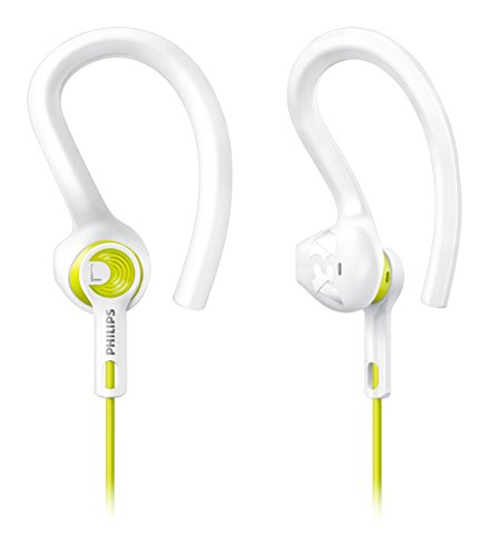Philips SHQ1400 ActionFit Sports Earbuds, White -