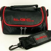 TGC ® Sat Nav GPS Case/Bag for Road Angel Gem+ Deluxe with Carry Handle (Black with Hot Pink trim) TGC ®