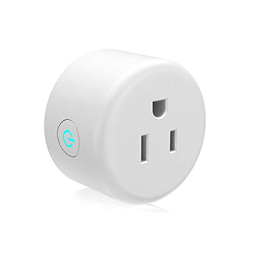 INSMART WiFi Smart Plug Compatible with Alexa Echo, Mini Timing Outlet with Energy Monitoring, Wireless Socket Remote Control Your Devices from Anywhere, No Hub Required