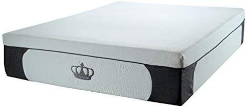 DynastyMattress New 14.5-Inch CoolBreeze Plush Gel Memory Foam Mattress w Free Pillows Twin