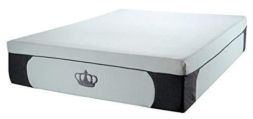 DynastyMattress New 14.5-Inch CoolBreeze Plush Gel Memory Foam Mattress w Free Pillows Queen