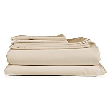 Thread Spread Hotel Collection 600 Thread Count Egyptian Cotton Sateen Full 4 Piece Sheet Set Ivory