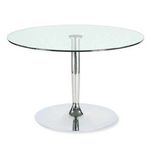Price comparison product image Calligaris Exquisite Planet Glass top,  Central Pedestal Chromed Base,  Round Dining Table