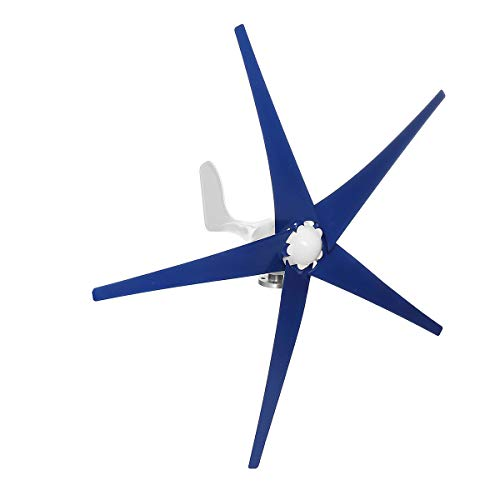 ZUINIUBI 1200W Wind Turbine Generator 12V/24V 3/5 Blades with Charge Controller Wind Generator Kit (Best Generator For Wind Turbine)