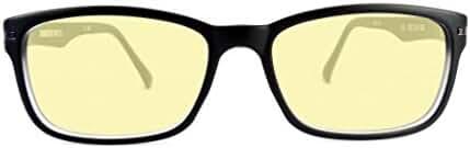 Retro Eyeworks Duraspex 109 Computer Glasses 53-18 MM 1.0x Black W/ Grey Temple