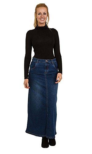 Uskees Fearne Jupe Denim Longue Maxi Skirt EU Size 36-50 Bleu FEARNEMD