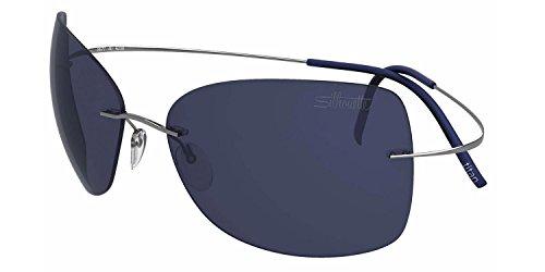 Silhouette - TMA ULTRA THIN 8147, Cat Eye, titanium, men, SILVER/BLUE(6232 - Silhouette Sunglasses