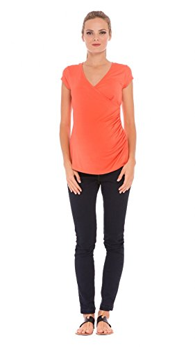 "(Olian ""Lucy"" Shirred Side Maternity/Nursing Top)"
