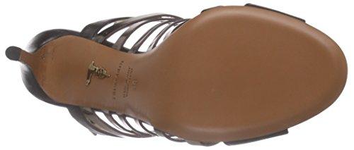 Trussardi T49 Bone+sple - Sandalias de tacón Mujer Negro