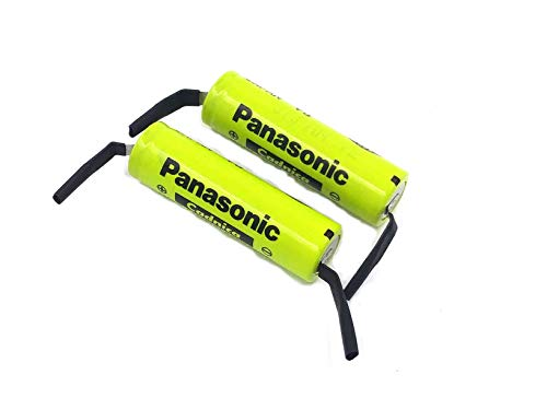 Panasonic/Sanyo NiCd AA Flat Top Battery with solder tabs - 2 ()