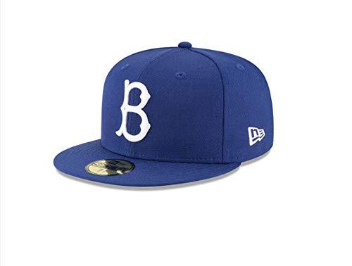 Team Baseball Brooklyn (New Era 59Fifty Hat Brooklyn Dodgers Cooperstown 1949 Wool Fitted Blue Headwear Cap (73/8))
