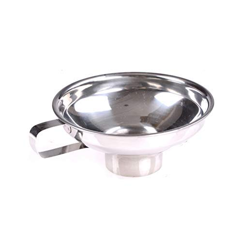 AOWA 1PCS Home Made Stainless Steel Jam Funnel Handle Wide-Mouth Kitchen Canning Funnel ()