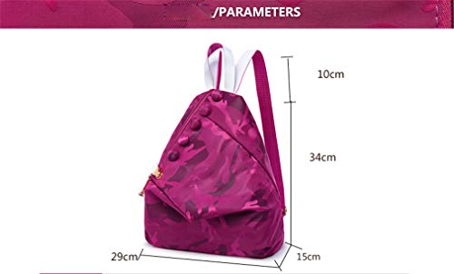 Purple Rosered Backpack Women Bags PCS Set 2 29x15x34cm School qY4CAaw