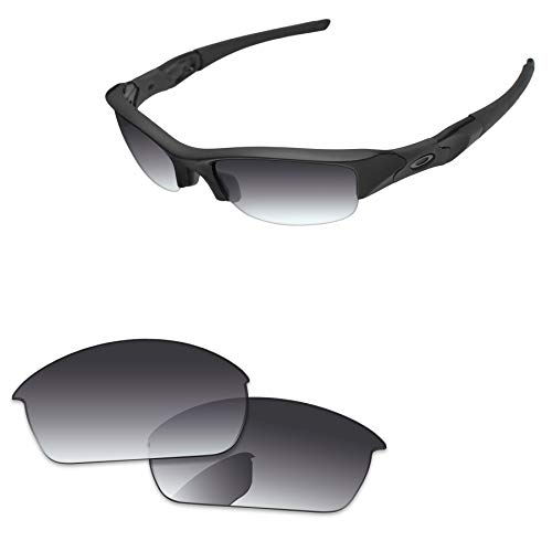 PapaViva Lenses Replacement for Oakley Flak Jacket Grey Gradient - Polarized ()