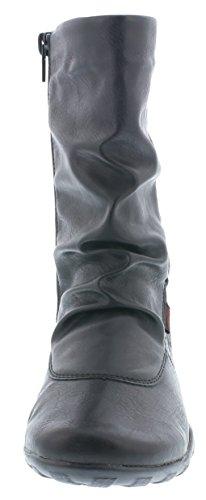 Kurzschaft Schwarz Damen Stiefel R1475 01 Remonte Altsilber 6w0vOWqq