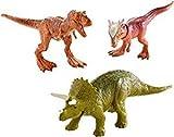 Jurassic World Fallen Kingdom 3 Pack of Dinosaurs Figures With Metallic T Rex 2018