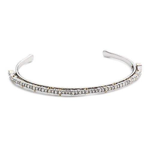 Alexis Bittar Cuff Bracelet - Alexis Bittar Crystal Lace Orbiting Cuff Bracelet, Silver/Rhodium