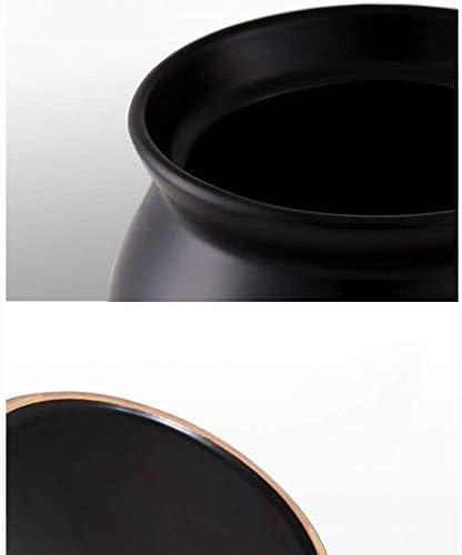 ZJZ Pot en céramique Casserole Pot Pot à ragoût en Terre Cuite Casserole en céramique Stockage Thermique, Protection de l'environnement, capacité 2,8L