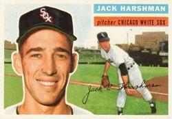 1956 Topps Regular (Baseball) Card# 29 Jack Harshman of the Chicago White Sox VG - Topps Baseball 1956