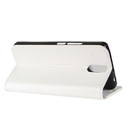 Cover Funda Para Doogee BL7000,Elegante Billetera Cover PU Cuero Funda Flip Case Carcasa Con Stand Función(Negro) Blanco