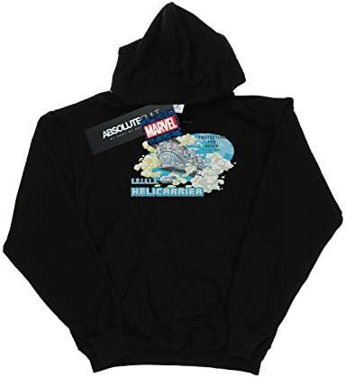 Marvel Damen S.H.I.E.L.D. Hellicarrier Protecting The Skies Kapuzenpullover Schwarz X-Large