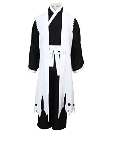 Mtxc Men's Bleach Cosplay Zaraki Kenpachi 3rd Squad Eleven Uniform Simplify Ver