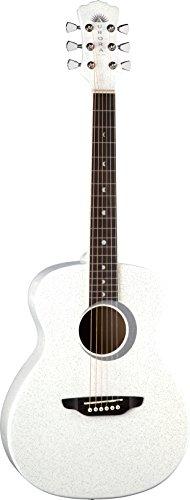 Luna Aurora Borealis 3/4-Size Acoustic Guitar - White Pearl Sparkle