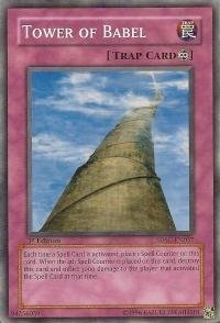 En037 Common Card - Yu-Gi-Oh! - Tower of Babel (SDSC-EN037) - Structure Deck Spellcasters Command - 1st Edition - Common