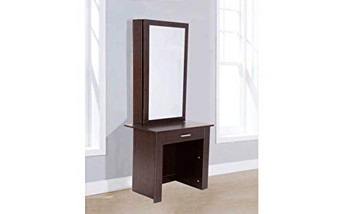 Hampton & Stewart Wooden Makeup Jewellery Dressing Table With Sliding Mirror Drawer (Walnut) H&S