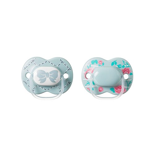 Tommee Tippee Little London Pacifier,BPA-Free, Bottle Shapped Nipple,6-18 Months, 2 Count (Colors May Vary) -