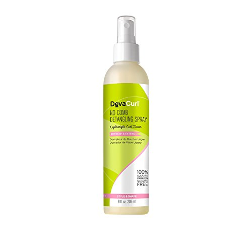 DevaCurl No Comb Detangling Spray; 8oz - Light Detangler Spray