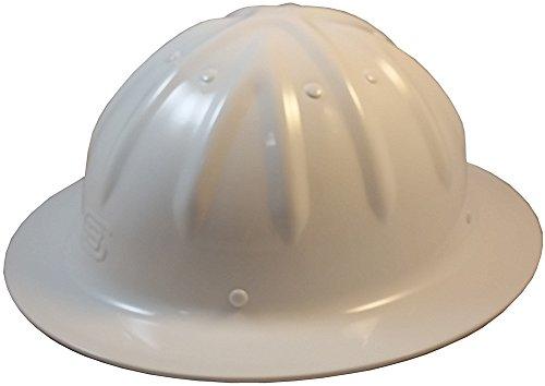 Original SkullBucket Aluminum Hard Hats, Full Brim with Ratchet Suspensions White