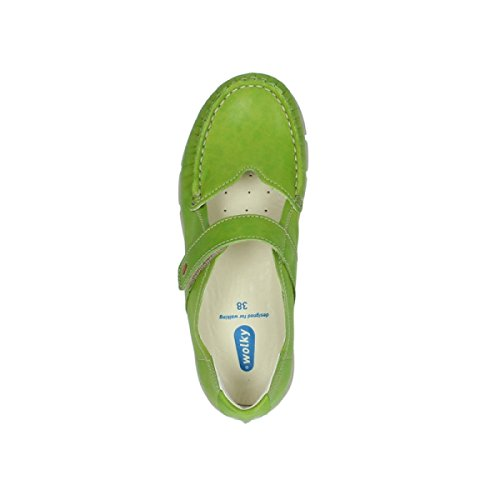 Mocassini In Lana Yukon Con Velcro In Pelle Di Calce 70750
