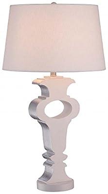 Minka Lavery 12430-0, Table Lamps for Living Room Tall Portable, 1 Light, Cream