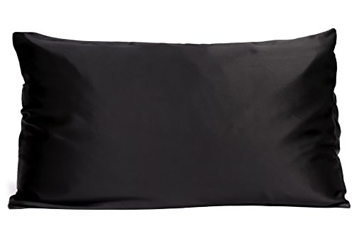 Fishers Finery 19mm Mulberry Silk Queen Pillowcase, Moonless Night