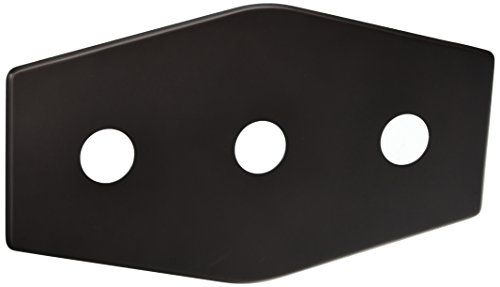 Westbrass Three-Hole Remodel Plate, Oil Rubbed Bronze, D505-12