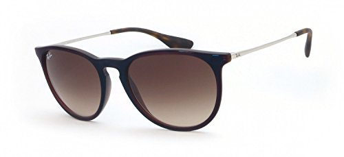 Ray-Ban Erika Aviator Sunglasses, Trasparent Brown SP Blue, 54 - Silver Frame Ray Aviator Blue Mirror Ban