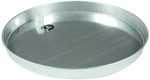 """Camco 20806 20""""ID x 2"""" Aluminum Drain Pan with CPVC Fitting"""