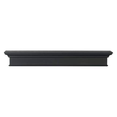 - Pearl Mantels Henry 48-Inch Mantel Shelf, Black