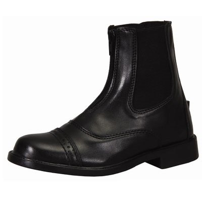 [TuffRider Children's Starter Front Zip Paddock Boots, Black, 12] (Boots Shoes For Kids)