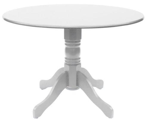 Tenzo 3247-001 TEQUILA - Designer Esstisch Tempo rund, Kautschukholz lackiert, matt, Höhe: 75 cm, ø 106 cm, weiß