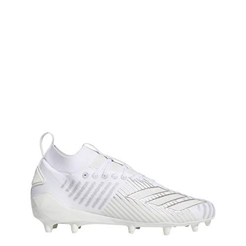 adidas Men's Adizero 8.0 Primeknit Football Cleats (10, White/Silver)