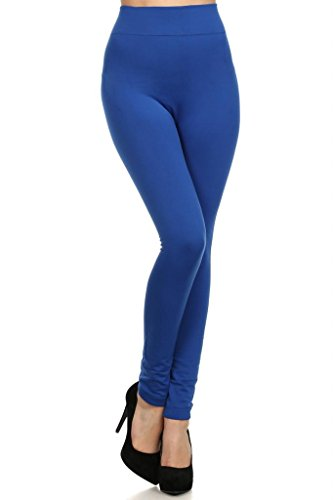 WHITE APPAREL Fleece Lined Leggings High Waist Thick Slimming - One Size